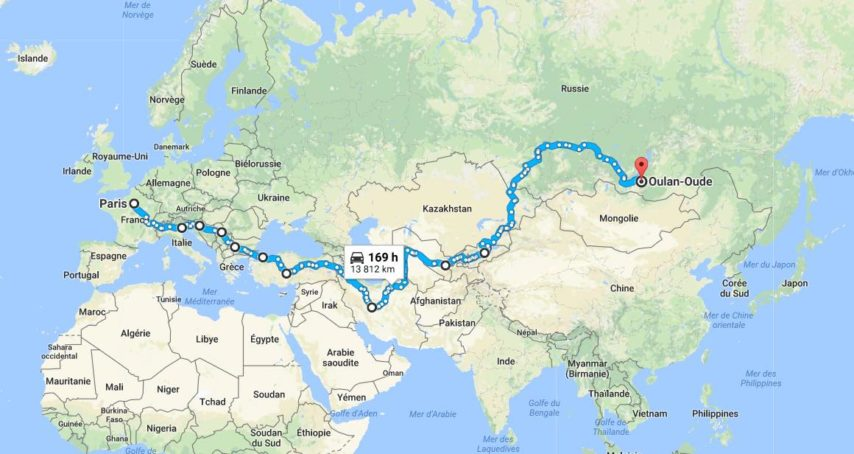 Mongol Rally itineraire